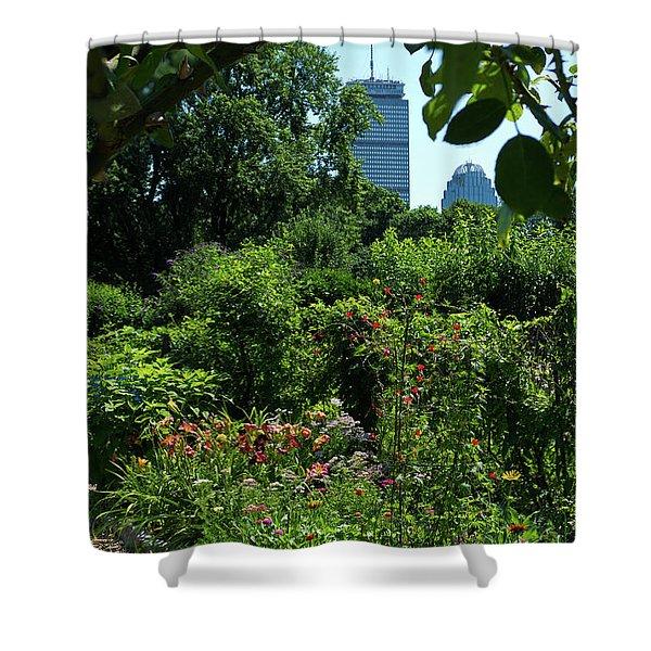Fenway Victory Gardens In Boston Massachusetts  -30951-30952 Shower Curtain