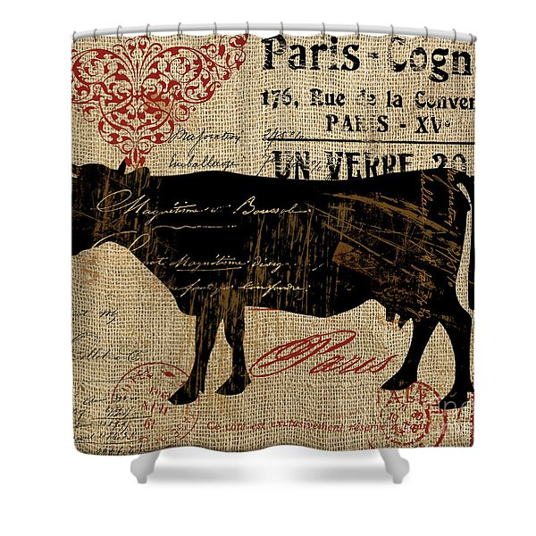 Ferme Farm Cow Shower Curtain