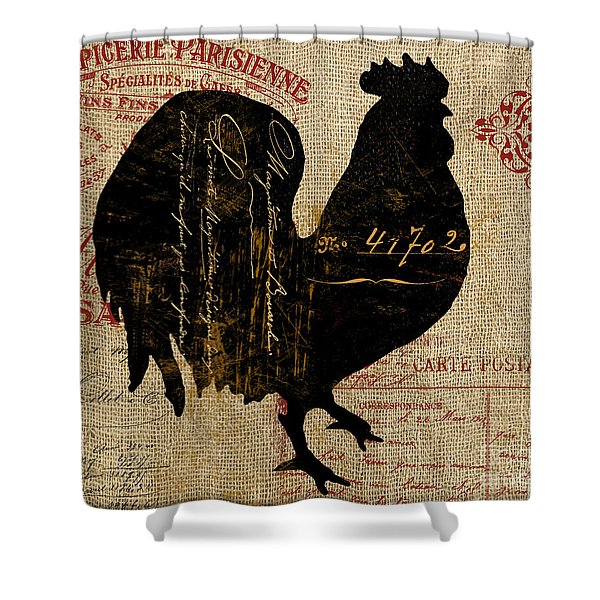 Ferme Farm Rooster Shower Curtain