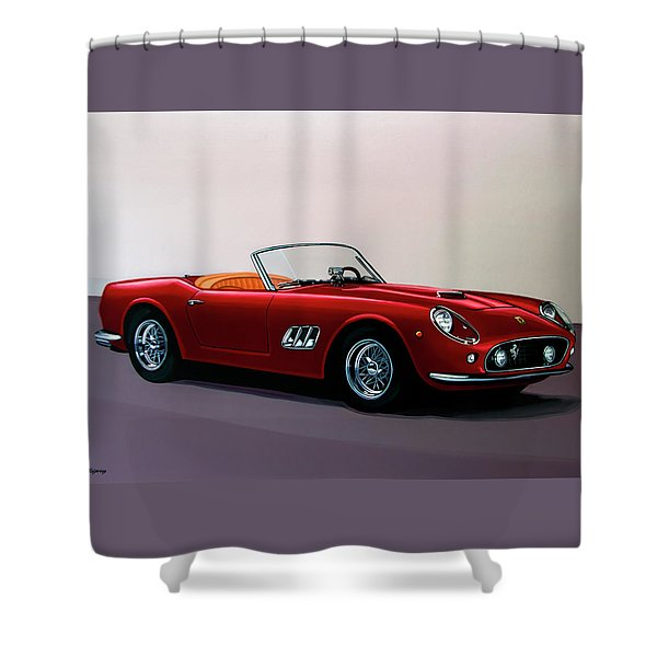 Ferrari 250 Gt California Spyder 1957 Painting Shower Curtain