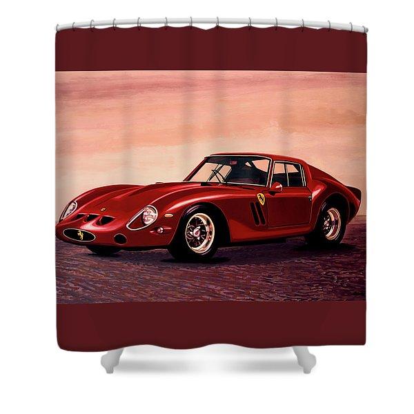 Ferrari 250 Gto 1962 Painting Shower Curtain