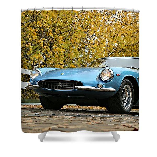 Ferrari 500 Superfast In Blue Shower Curtain