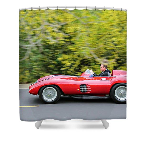 Ferrari 750 Monza At Speed Shower Curtain
