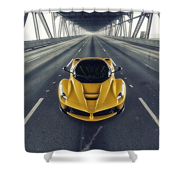 Ferrari Laferrari Shower Curtain