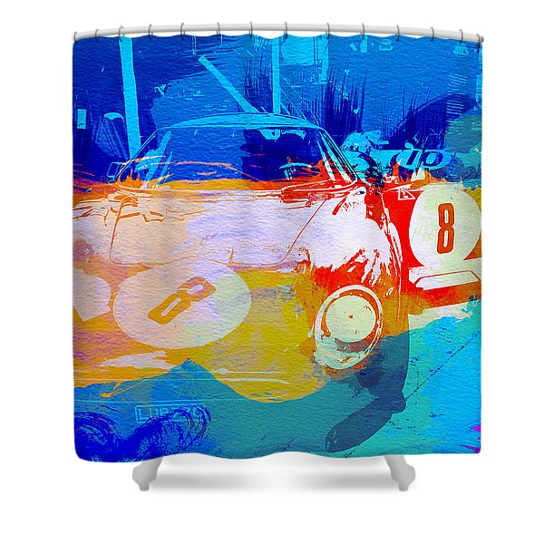 Ferrari Pit Stop Shower Curtain