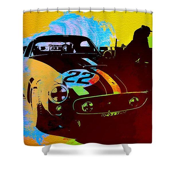 Ferrari Watercolor Shower Curtain