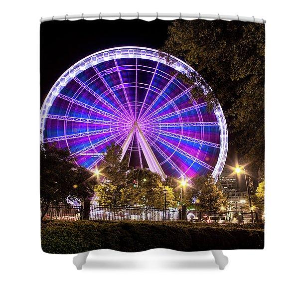 Ferris Wheel At Centennial Park 1 Shower Curtain