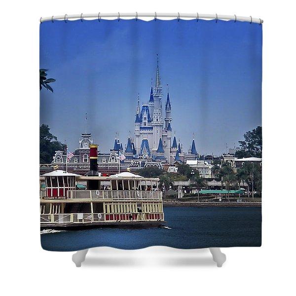 Ferry Boat Magic Kingdom Walt Disney World Mp Shower Curtain
