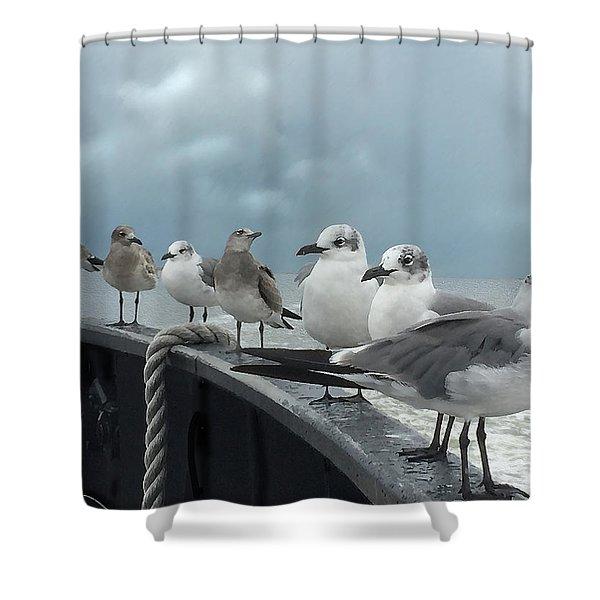 Ferry Passengers Shower Curtain