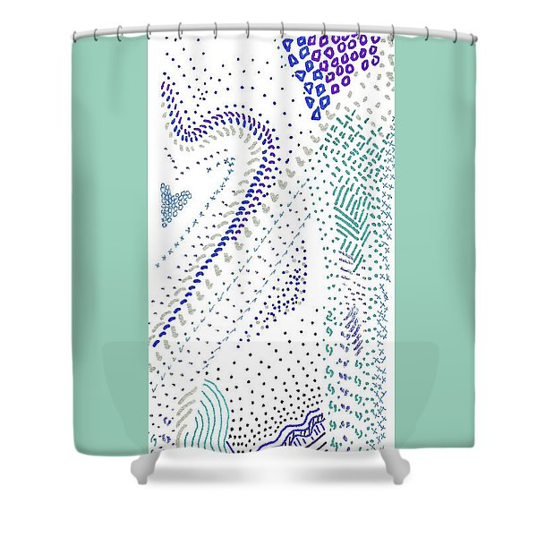 Festival In Blue And Silver Shower Curtain