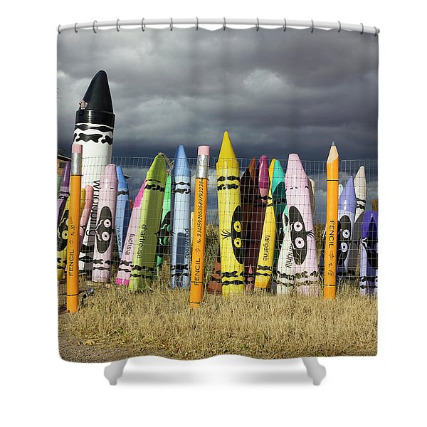 Festival Of The Crayons Shower Curtain