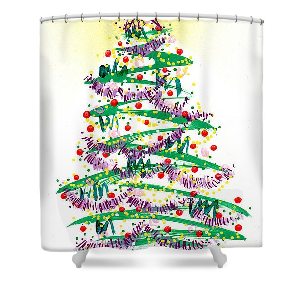 Festive Holiday Shower Curtain