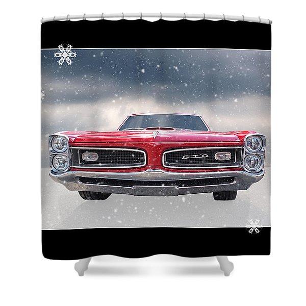 Festive Pontiac Gto Shower Curtain