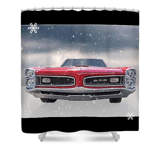 Festive Pontiac Gto Shower Curtain