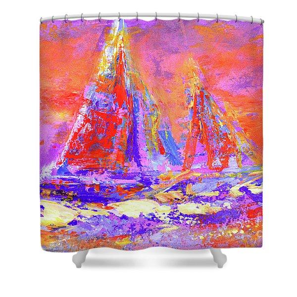 Festive Sailboats 11-28-16 Shower Curtain