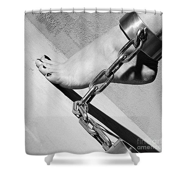 Fetish Shackled Or Cuffed Feet Shower Curtain