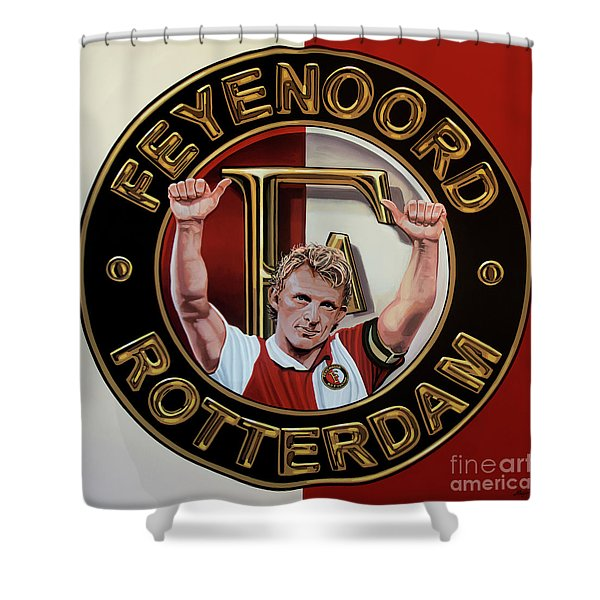 Feyenoord Rotterdam Painting Shower Curtain