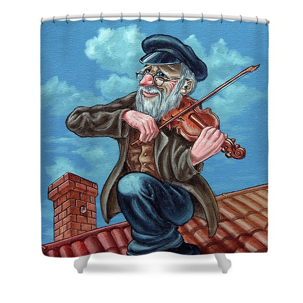 Fiddler On The Roof. Op2608 Shower Curtain