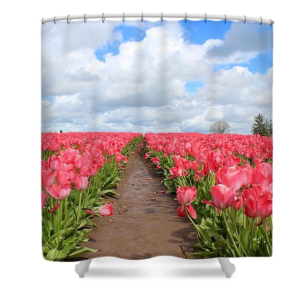 Field Of Pink Shower Curtain