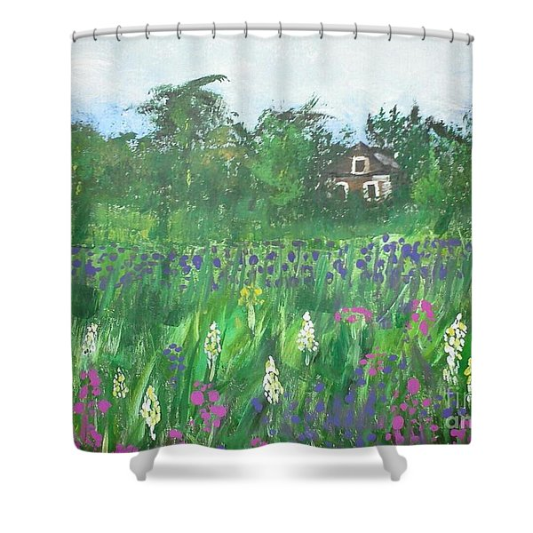 Field Of Wildflowers Shower Curtain