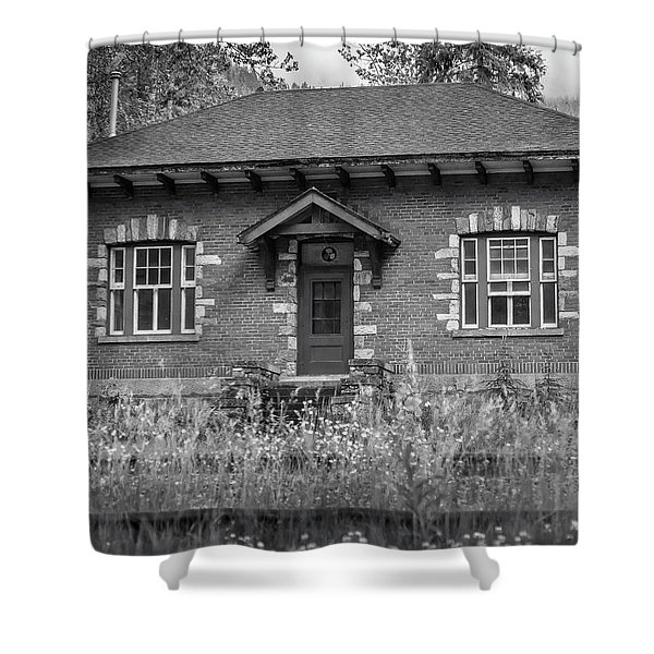 Field Telegraph Station Shower Curtain