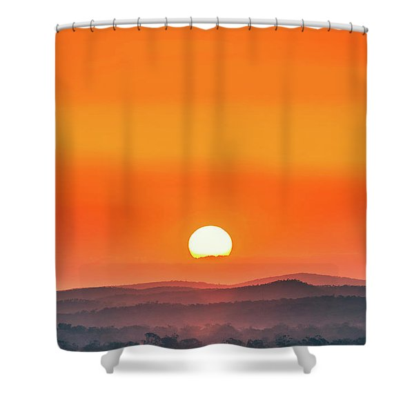 Fields Of Haze Shower Curtain