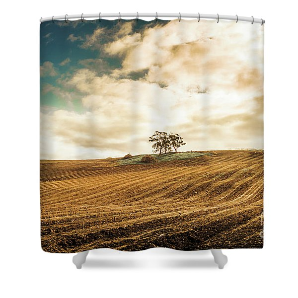 Fields Of Tasmanian Agriculture Shower Curtain