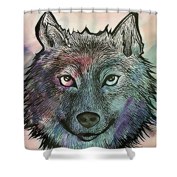 Fierce And Wise Shower Curtain