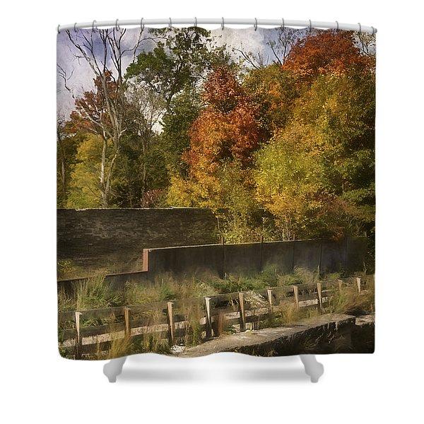 Fiery Autumn Shower Curtain