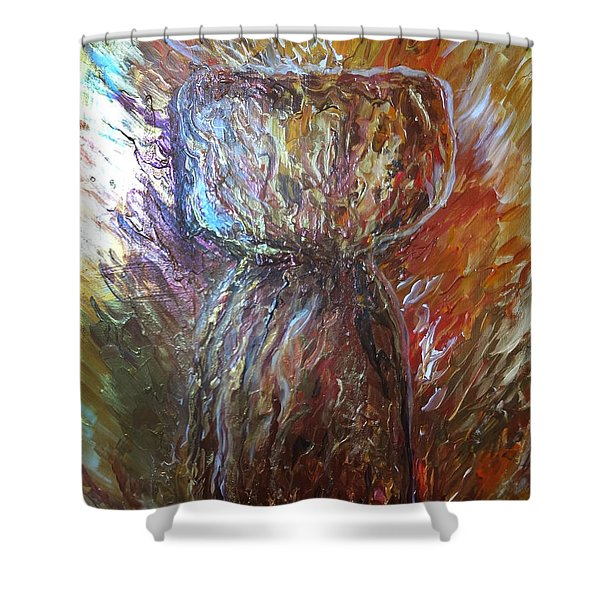 Fiery Earth Latte Stone Shower Curtain