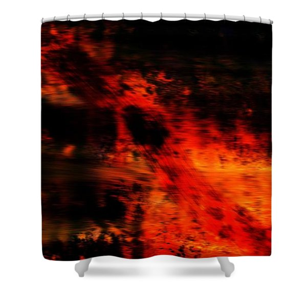 Fiery End Shower Curtain