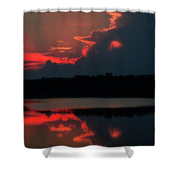 Fiery Evening Shower Curtain