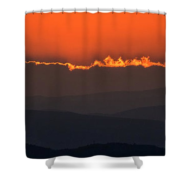 Fiery Sunset In The Luberon Shower Curtain