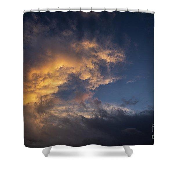 Fiery Wave Shower Curtain