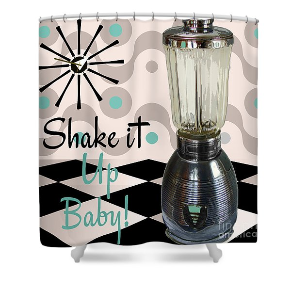Fifties Kitchen Blender Shower Curtain