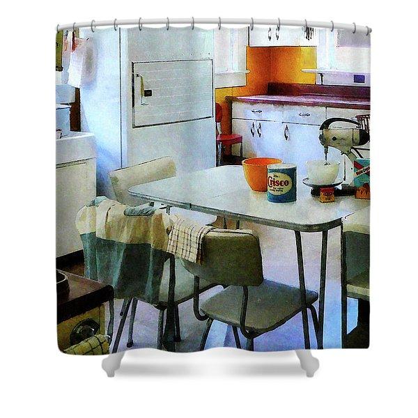 Fifties Kitchen Shower Curtain