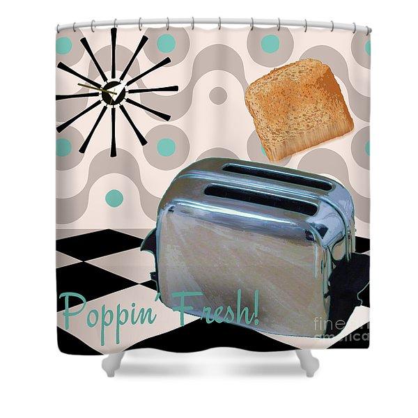 Fifties Kitchen Toaster Shower Curtain
