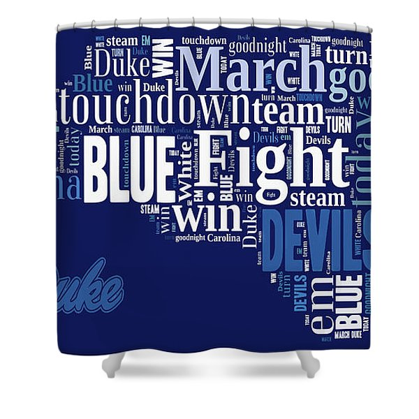 Fight Fight Blue Devils Shower Curtain