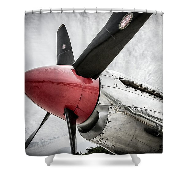 Fighting P-51 Mustang  Shower Curtain