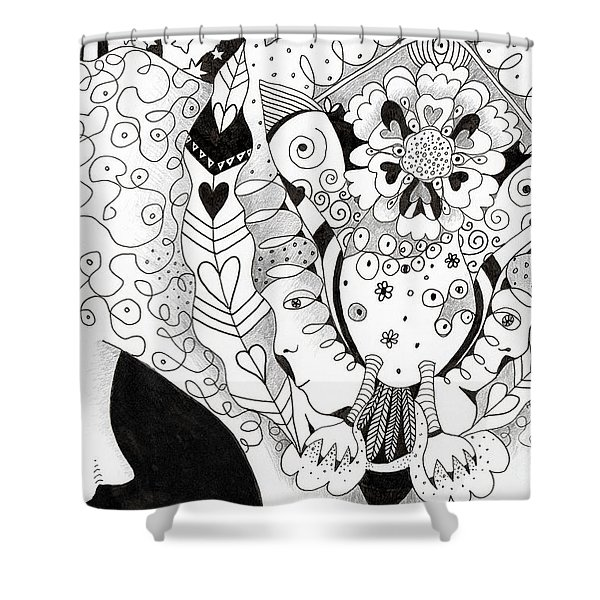 Figments Of Imagination - The Beast Shower Curtain
