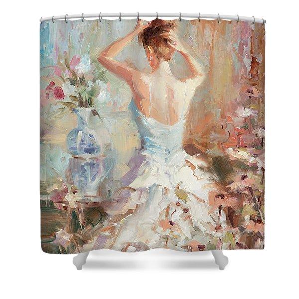 Figurative II Shower Curtain