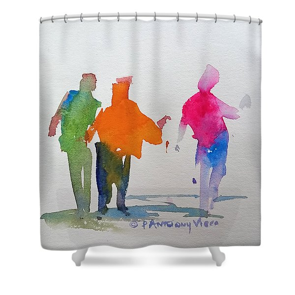 Figures In Motion  Shower Curtain