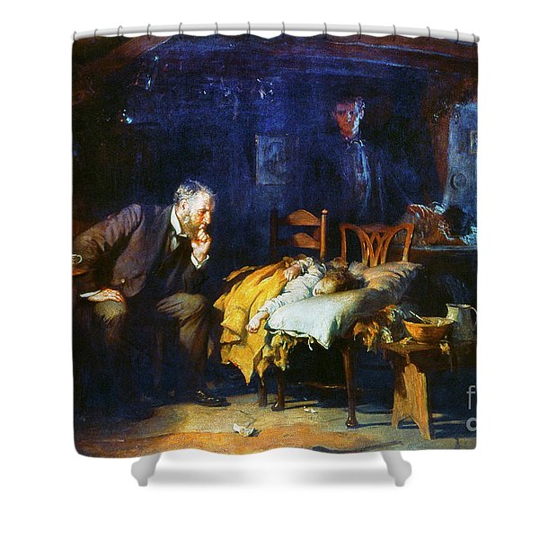 Fildes The Doctor 1891 Shower Curtain