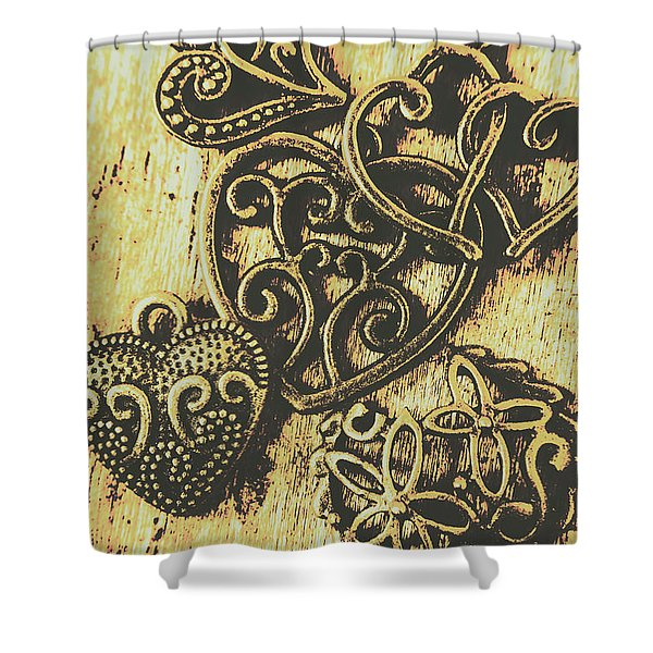 Filigree Love Shower Curtain