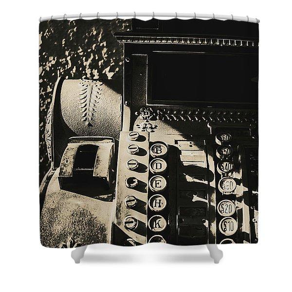 Film Noir Cashier Shower Curtain