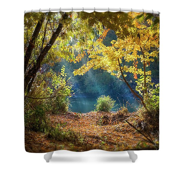 Filtered Light 3 Shower Curtain