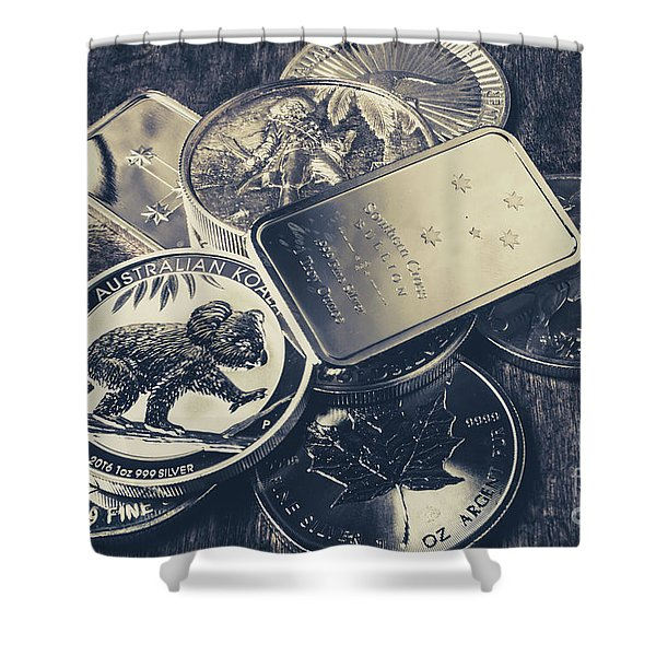 Finance And Commodities Shower Curtain