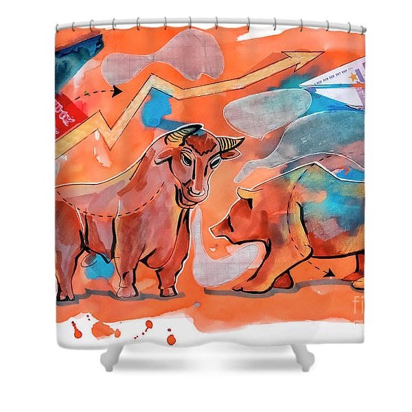 Finance And Crises  Shower Curtain