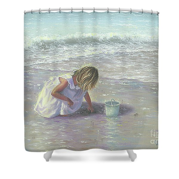 Finding Sea Glass Shower Curtain