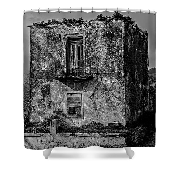 Fine Art Back And White234 Shower Curtain
